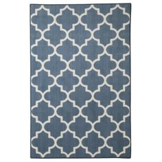 Maples Fretwork Area Rug - cheap! under $150 for 8x10. other colors available.  Maybe for toy room?  TV room if it works with my other blues in the room.
