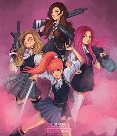 best fanart :o #blackpink #inyourarea #kpop #korean #bias #lisamanoban #kimjisoo #kimjennie #rosépark #talented #girlpower