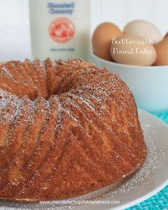 Buttermilk Pound cake-the perfect accompaniment to fresh fruit, a light syrup or all on it's own!