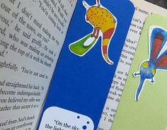 Handmade paper bookmark Illustrated with the Nosy Bee by NosyWitty