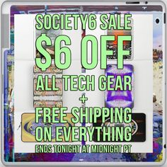PROMO SCHEDULE & INFORMATION   11/22: 24 HR Only $6 Off All Tech Free Shipping on Everything Starts at 12:00 AM PT Ends at 11:59 PM PT  https://society6.com/fredericomaia  Tech - all phone cases, phone skins, laptop sleeves, laptop skins   ❤