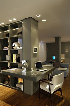 Home Office Design Ideas That Will Inspire Productivity 4 - kindledecor Home Office Lighting, Home Office Space, Home Office Decor, Home Decor, Office Decorations, Office Interior Design, Luxury Interior Design, Office Interiors, Bureau Design