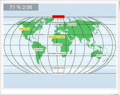 """""""World: Latitudes and longitudes"""" Antarctic Circle, Sistema Solar, Geography, Cancer, World, Amor, Geography Activities, Interactive Activities, Science Area"""