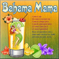 Bahama Mama Drink Recipe