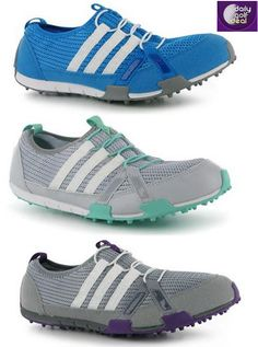 Today's Deal: adidas Ballerina Golf Shoes Ladies – Blue/Clear Grey/Grey & White http://dailygolfdeal.co.uk/deals/deals/adidasballerina/