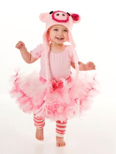 Petti Tutu Skirt - Halloween or Birthday Costume - Pink - Squiggly Piggly - 3-4 Toddler Girl. $40.00, via Etsy.
