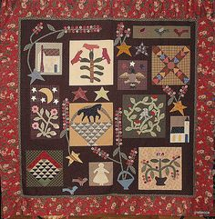 Pokeberry Quilt(Jan Patek-pattern) Another Girl Gang, must get mine quilted!
