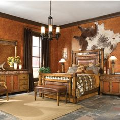 Love it. So western. I never thought to hang a cowhide on the wall...it looks really neat...different!