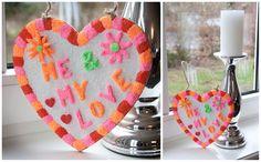 LOVE Foam Clay! Heel makkelijk en leuk om te doen. Een creatief kinderfeestje was nog nooit ze makkelijk.  Benodigdheden: MDF hart met ophangkoord en Foam Clay.