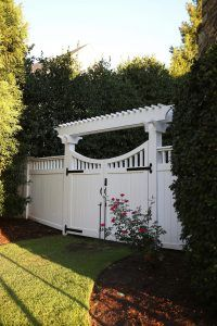 Gate paint color is Sherwin Williams SW 7004 Snowbound. White Gate paint color is Sherwin Williams SW 7004 Snowbound. #whitegate #garden #gate #paintcolor #SherwinWilliamsSW7004Snowbound Home Bunch Beautiful Homes of Instagram bluegraygal