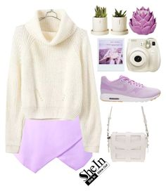 """""""#SheIn"""" by credentovideos ❤ liked on Polyvore featuring мода, Polaroid, NIKE и Zara Home"""