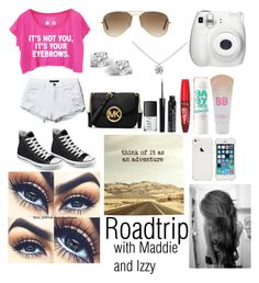 """""""Roadtrip!!!"""" by cookiesforliam ❤ liked on Polyvore featuring Converse, Ray-Ban, Tiffany & Co., Maybelline, Glitzy Rocks, NARS Cosmetics, Rimmel and MICHAEL Michael Kors"""