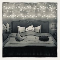 #comics #comic #comicart #comicfun #messages #draw #drawing #art #illustration #doodle #colours #colors #figures #life #picture #love #lights #mood #happy #girl #sleep #night #goodnight #sleepwell #cat #cats #cute #mood #sleepy #dream #dreams #dreamy #shiny #shine Sleepy Girl, Drawing Art, Night Light, Comic Art, Doodles, Colours, Messages, Illustrations, Dreams