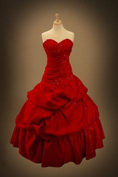 robe de bal robe mariée gothique rouge robe de bal robe mariée ...