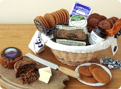 Yorkshire Hamper from Bothams with cheese and biscuits. Suitable for vegetarians