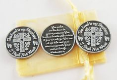 Set of 3 The Lord is My Shepherd Pocket Tokens by CourageInStone