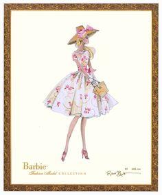 garden party barbie art print
