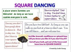 Just in time for Halloween!  Zombies can square dance!