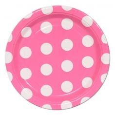 Pink/White dessert plates
