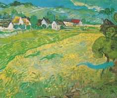 Vincent van Gogh - Sonnige Wiese bei Auvers, 1890