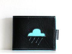Raining Cloud in Aqua, Billfold Wallet https://www.etsy.com/shop/trelabela