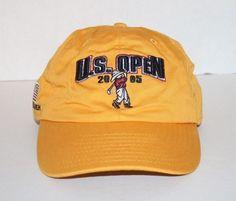 8460a734cb7 US Open Golf Hat 2005 Yellow USGA Pinehurst No. 2 Baseball Cap One Size   USGA  BaseballCap