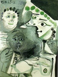 Family, 1965, Pablo Picasso Size: 130x96 cm Medium: oil on canvas