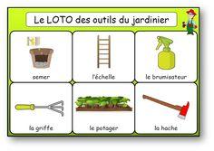 Loto des outils du jardinier Albums, Garden, Garden Tools, Nursery School