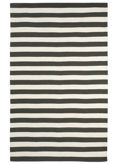 Dwell Studio Cream and Black Draper Stripe Rug
