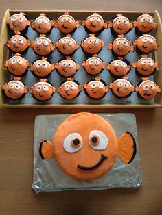 Nemo cake and cupcakes