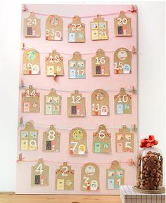 Pakjesavond aftelkalender/slinger (GRATIS DOWNLOAD). Aftellen voor het heerlijke avondje van Sinterklaas. In kleur en zwart-wit. | © Papiergoed