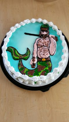 Redneck Merman DQ Cake By Mandy