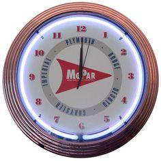 Mopar Arrow Neon Clock