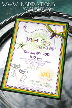 Mardi Gras themed parties! This is cool