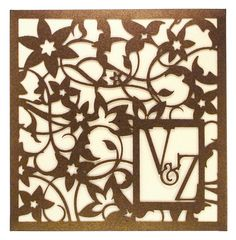 www.intricatecreations.co.uk - Bespoke Enchanted Garden Laser-Cut Wedding Invitation