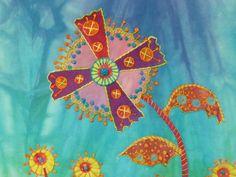 Weezie's Wildflowers #17 by Laura Wasilowski