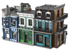 Lego City Sets, Lego Sets, Casa Lego, Lego Village, Big Lego, Lego Army, Amazing Lego Creations, Lego Building, Building Ideas