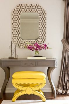 Eye-catching and effortlessly stylish, this stunning yellow ottoman from Safavieh brightens any room. Modeled after the traditional Savonarola chair, this distinctive design, with curved crossed legs