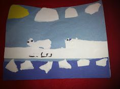 Torn Paper Polar regions landscape