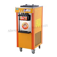 Soft Serve Ice Cream Maker Ice-cream Making Machine 3 Nozzles 220 Voltage Specs Upright Type Digital Control