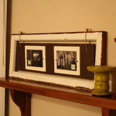 great idea for a window frame or make it with distressed wood - then add more wood - and pictures!♪ ♪ ... #inspiration_diy GB