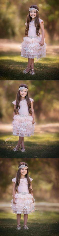 Cupcakes N Lace Skirt Pretty Flower Girl Dresses, Flower Girl Dresses Country, Flower Girl Tutu, Lace Flower Girls, Princess Theme Party, Princess Birthday, 5th Birthday, Light Peach, Soft Light