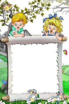 White Kids Transparent Frame Kids and Bunnies Frame Border Design, Boarder Designs, Page Borders Design, School Border, Boarders And Frames, Kids Background, Paper Background, Powerpoint Background Design, School Frame