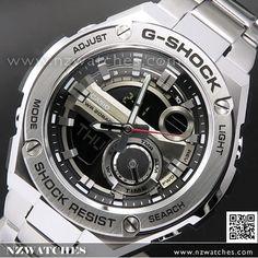 Casio G-Shock Analog Digital G-STEEL Layer Guard Stainless Steel Mens Watch GST-210D-1A, GST210D Discount Watches, Casio Edifice, Casio G Shock, Casio Watch, Layering, Steel, Stylish, Fashion, Wrist Watches
