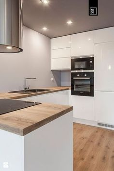 Modern white-wooden kitchen
