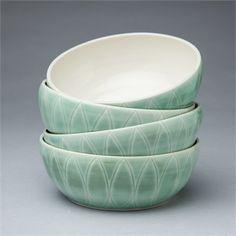 Hand thrown Petal Serving Bowl. Sarah Went Ceramics