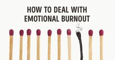 How to deal with emotional burnout