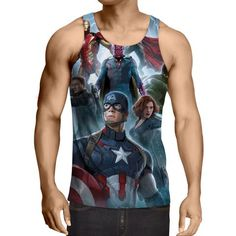 The Avengers Age of Ultron Main Characters 3D Print Tank Top  #Avengers #AgeofUltron #Main #Characters #3D #Print #TankTop