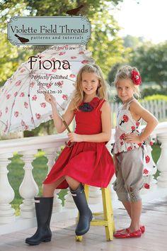 Sewing Pattern, Violette Field Threads, Fiona Dress & Top Pattern