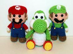 Ravelry: Mini Yoshi Gamer Friend pattern by Mary Smith Mario Crochet, Crochet Game, Cute Crochet, Crochet For Kids, Crochet Crafts, Yarn Crafts, Crochet Projects, Crochet Doll Pattern, Crochet Toys Patterns